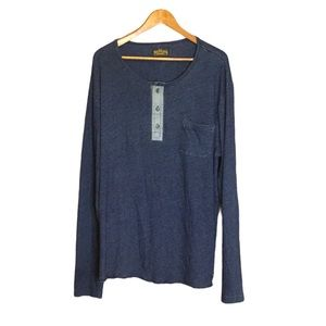 True Religion mens long sleeve Henley t shirt 3XL